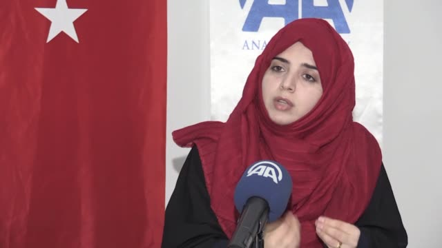 young turkish woman rukiye demir has become the first turk and foreigner to have obtained a master's degree from a palestinian university. demir has... - sample holder stock videos & royalty-free footage