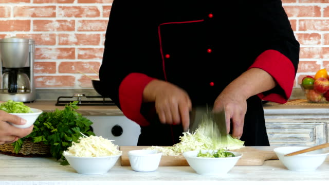 young woman and asian chef making salad - showing stock videos and b-roll footage