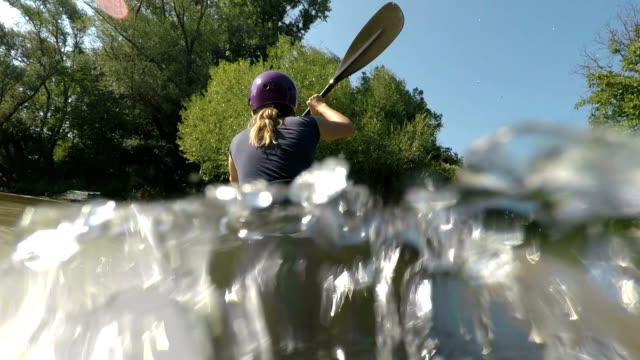 young woman canoeing - kayaking stock videos & royalty-free footage
