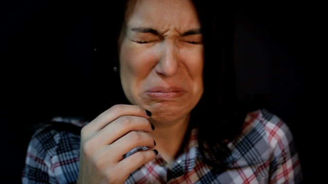 young woman crying - grief stock videos & royalty-free footage