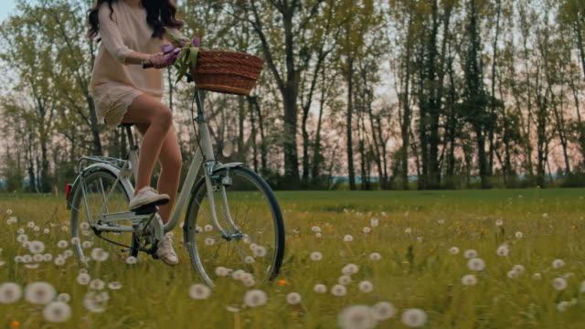 vídeos y material grabado en eventos de stock de slo mo ws ts joven mujer andando a través de prado - resolución 4k