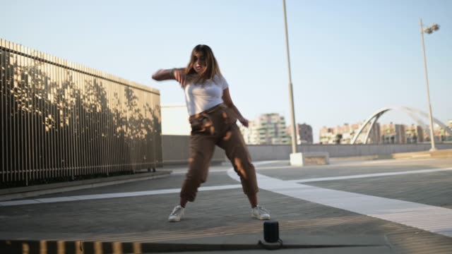 young woman dancing - bluetooth stock videos & royalty-free footage