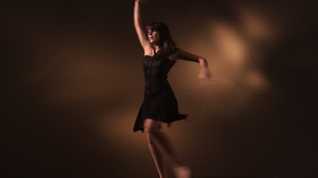 young woman dancing - see other clips from this shoot 1152 stock videos & royalty-free footage