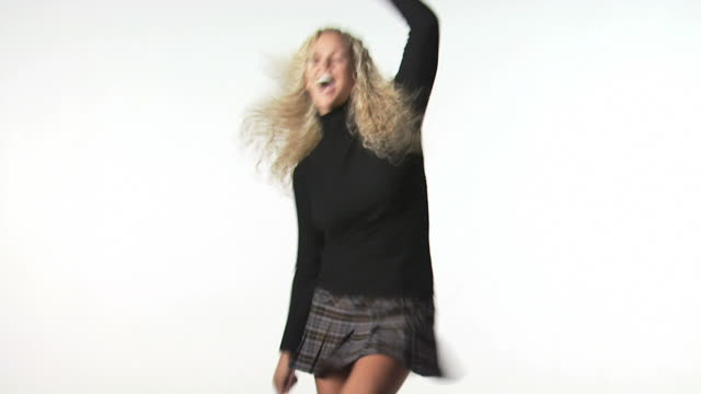 young woman dancing - see other clips from this shoot 1148 stock videos and b-roll footage
