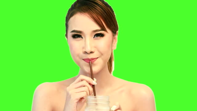 young woman drinking coffee. - straw stock videos & royalty-free footage