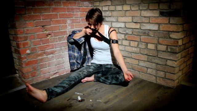 Young Woman Drug Addiction