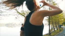 Young woman enjoying her morning run.