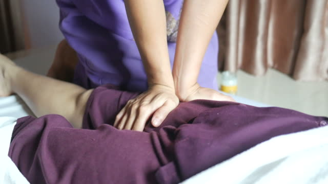 young woman having relaxing  with thai massage - lymphatic system stock videos & royalty-free footage