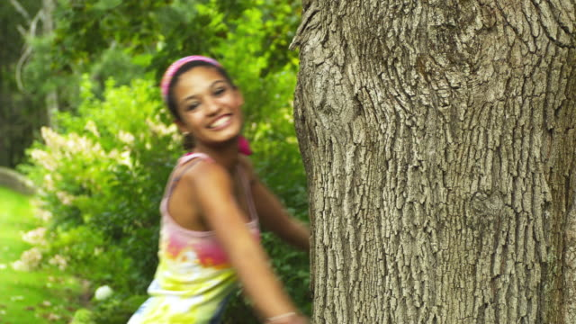 ms young woman hugging tree / manchester, vermont, usa - tree hugging stock videos & royalty-free footage