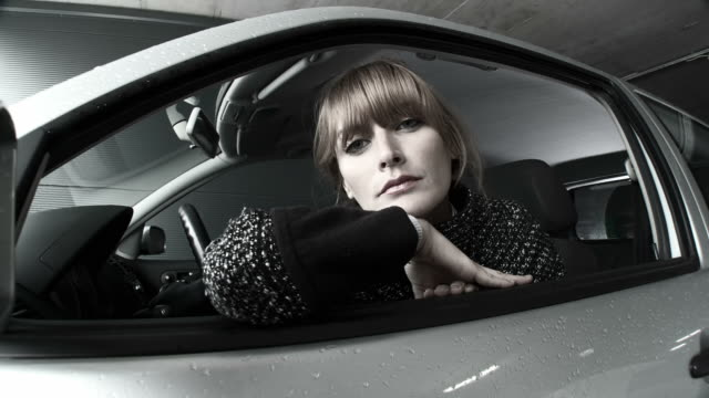 hd dolly: young woman in a car - digital enhancement stock videos & royalty-free footage