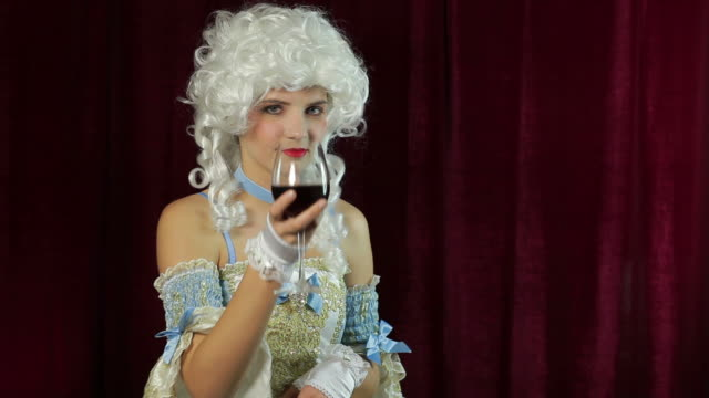 young woman in baroque style costume - baroque stock videos & royalty-free footage