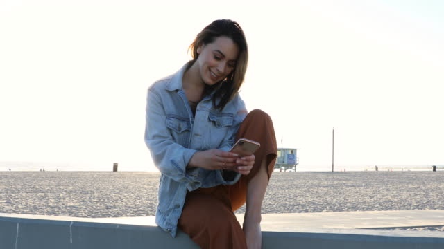 young woman in venice - la, california - venice beach stock videos & royalty-free footage