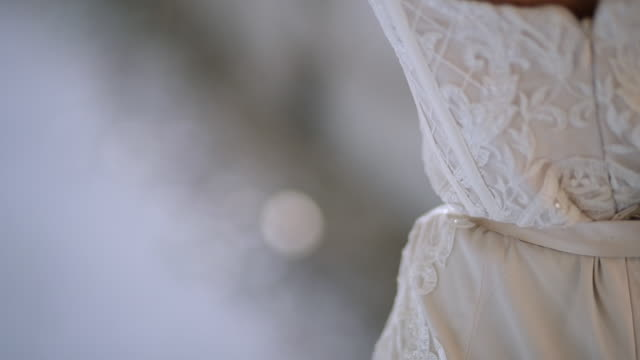young woman in white elegant and luxury long dress - evening gown stock videos & royalty-free footage