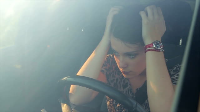 young woman is running late for work - driver stock videos & royalty-free footage