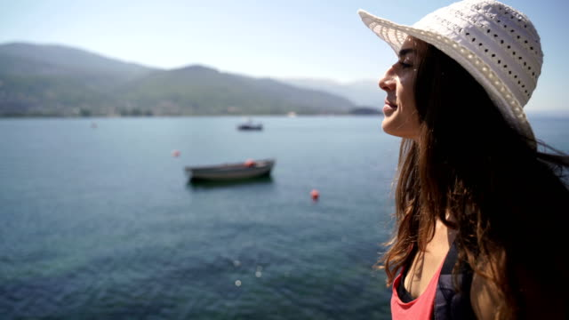 young woman on summer vacation - cinemanis videography stock videos & royalty-free footage