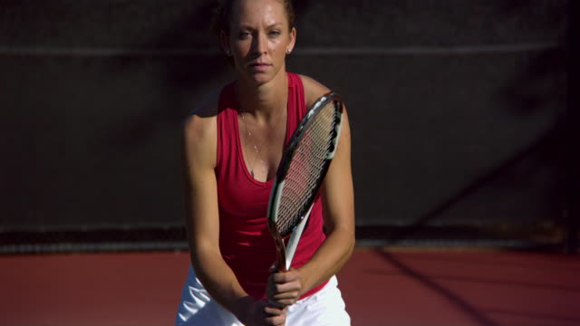 ms, tu, young woman on tennis court, santa barbara, california, usa - vest stock videos and b-roll footage
