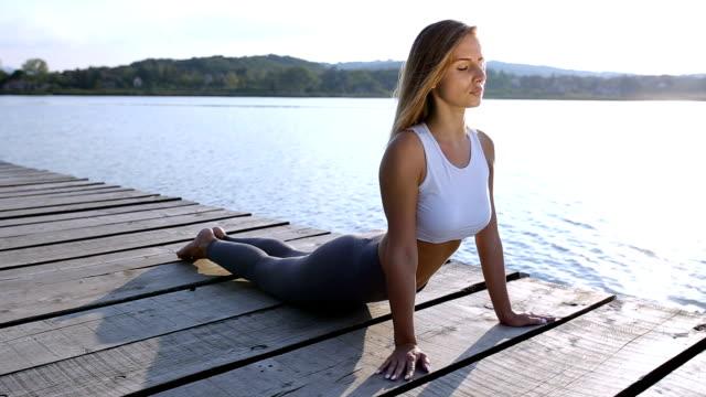 Young woman relaxing meditating