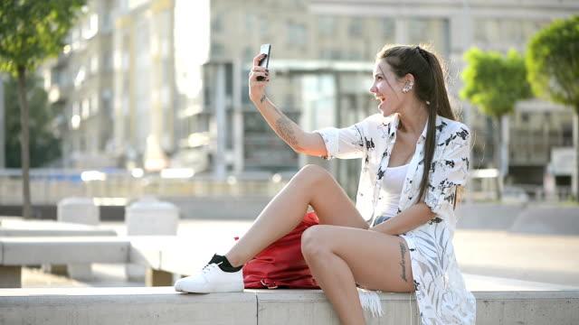 Young woman take a selfie