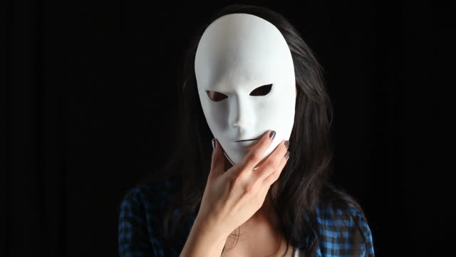 Young Woman Unmask And Showing True Color