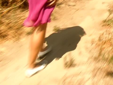 young woman walk - human limb stock videos & royalty-free footage