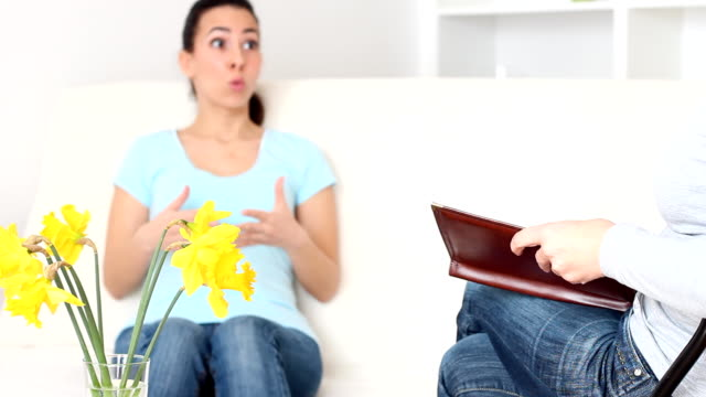 young woman with therapist - paperwhite narcissus stock videos & royalty-free footage