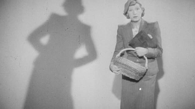 MONTAGE Young women argue and examine their shadow's improper posture while the narrator instructs them on proper posture / United Kingdom