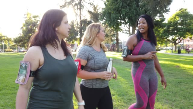 young women jogging and getting healthy at the park - reusable stock videos & royalty-free footage