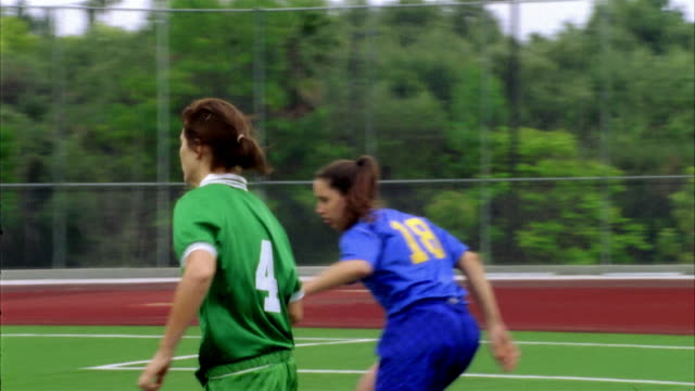 slo mo, ms, cu, pan, young women playing soccer, biola university, la mirada, california, usa  - number 4 stock videos & royalty-free footage