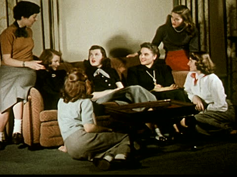 young women relaxing and talking with college advisor - home economics class stock videos & royalty-free footage