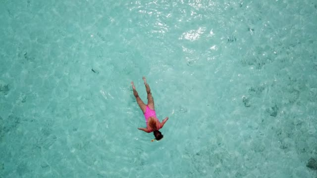 young women snorkeling on the maldives - island stock videos and b-roll footage