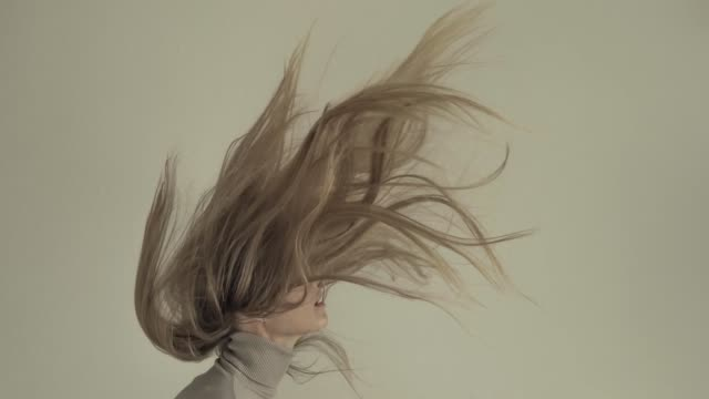young women with flying hair - model object stock videos & royalty-free footage