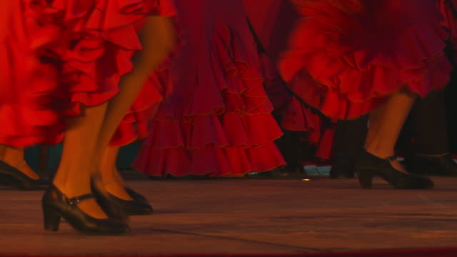 young women's flamenco group perform - performing arts event stock videos & royalty-free footage