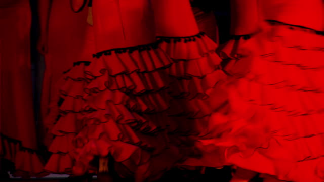 young women's flamenco group - flamenco stock videos and b-roll footage