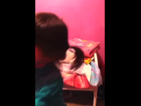 Younger sister gets made when her older sibling is trying to steal the limelight in a homemade video So she punches her in the face