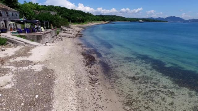 youngest sedimentary rock beach in hong kong - tung ping chau 03 - sedimentary rock stock videos & royalty-free footage