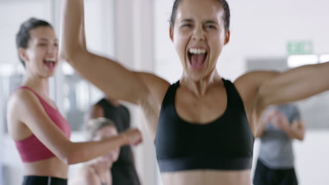 your body is made of awesomeness! celebrate it! - improvement stock videos & royalty-free footage