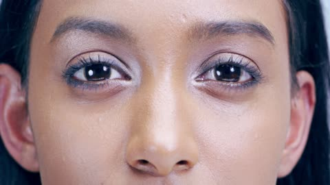 your eyes reflect your emotions - blinking stock videos & royalty-free footage