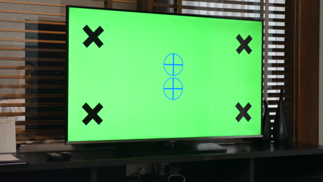TV Your message with chroma key