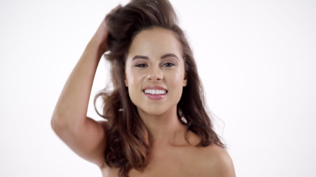 your perfect hair goals - hair toss stock videos & royalty-free footage
