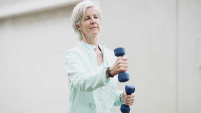 you're never too old to get in shape - active seniors stock videos & royalty-free footage