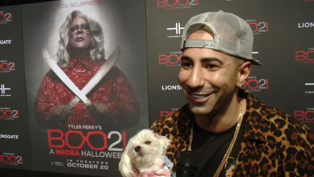 """INTERVIEW Yousef Erakat on the premiere at Lionsgate Presents the Los Angeles Premiere of Tyler Perry's """"Boo 2 A Madea Halloween"""" in Los Angeles CA"""