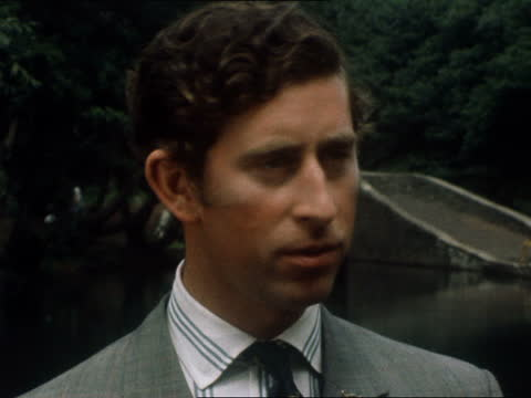 prince charles interview; wales: nearr port talbot: neath canal: ext gv derelict radar station country house and river canal tools ditto pembroke... - hammer stock videos & royalty-free footage