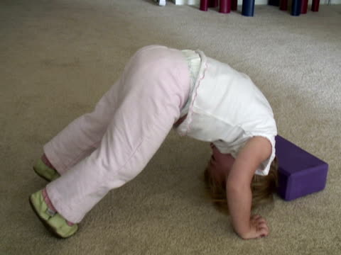 youth child health and fitness - yoga - good posture stock videos & royalty-free footage