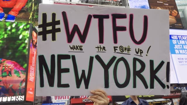 youth climate strike: nyc school students rallied at manhattan's columbus circle and marched to times square chanting about environmental issues... - individual event stock videos & royalty-free footage