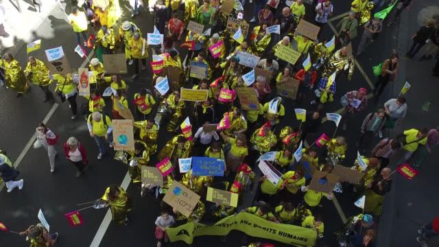 vidéos et rushes de youth march for the climate - climat