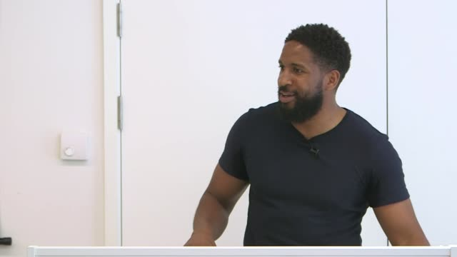youth worker trains met police's newest recruits on race and unconscious bias; england: london: new scotland yard: int various shots of sayce... - recruit stock videos & royalty-free footage