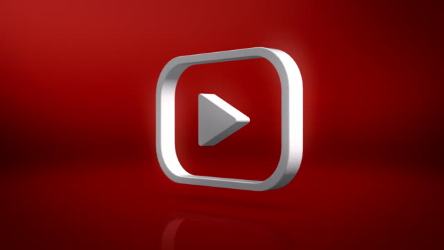 youtube icon motion background - logo stock videos & royalty-free footage
