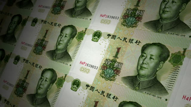 1 yuan chinese local currency paper money - chinese currency stock videos & royalty-free footage
