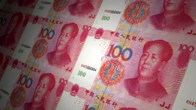 100 yuan chinese local currency paper money - chinese currency stock videos & royalty-free footage