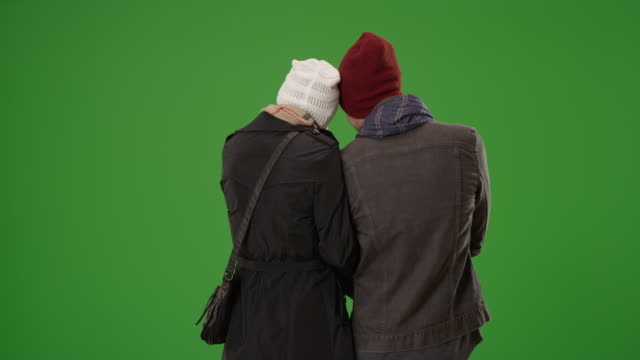 stockvideo's en b-roll-footage met yuccie couple enjoying the view on green screen - muts